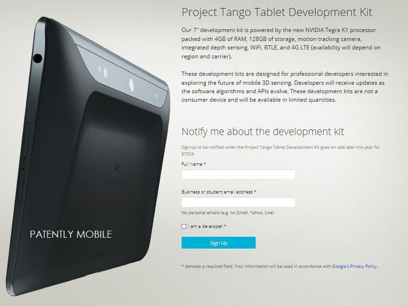 1AF extra - project tango coming to Android Tablets too
