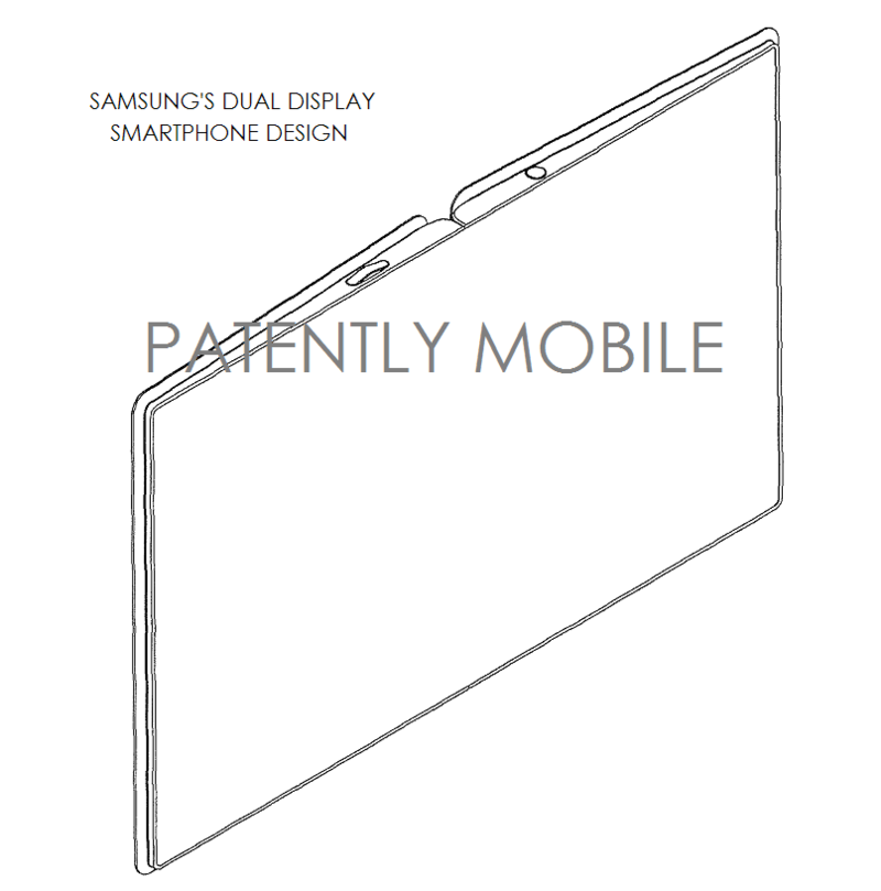 3AF - - samsung dual display smartphone design patent figure