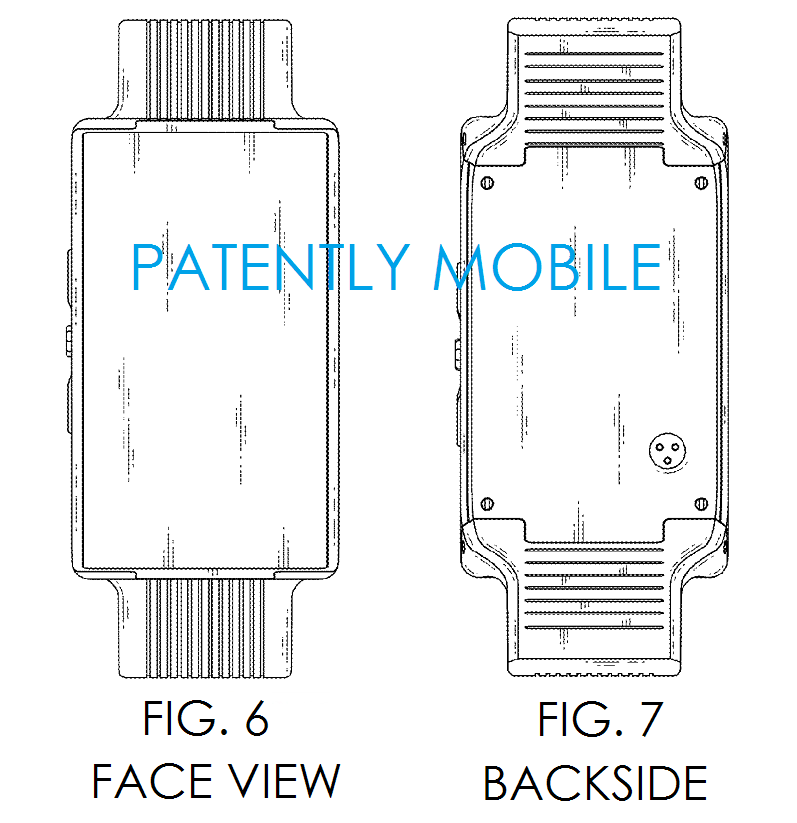 3AF - LG PHONE WATCH GRANTED DESIGN PATENT FIGS 6 & 7