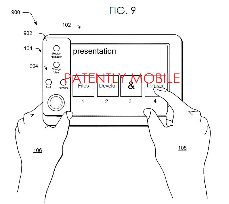 3AF MSFT SURFACE COVER WITH PRESENTATION CONTROLS FIG. 9