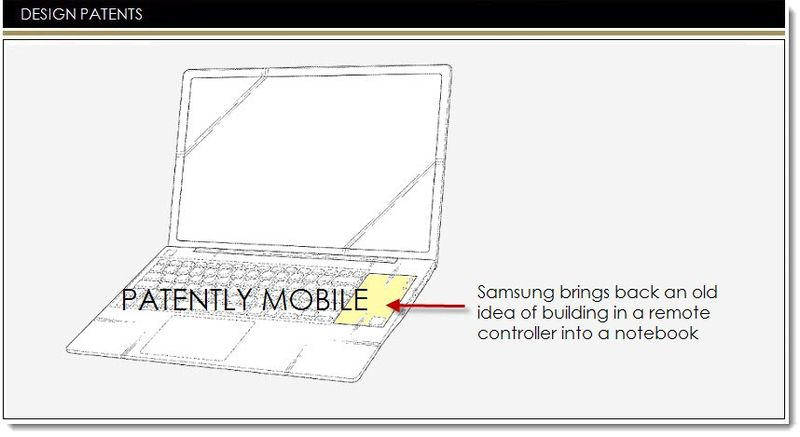 1AF #2- Samsung wins design patent for notebook with built-in remote controller