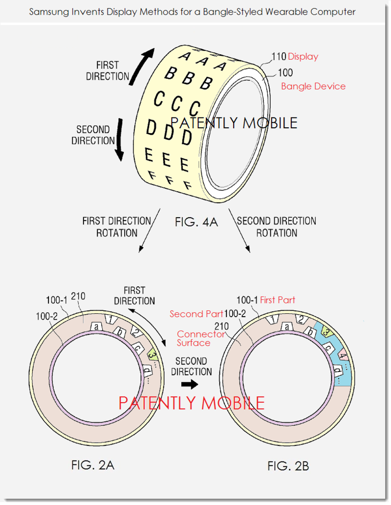 2AF2 - - SAMSUNG PATENT FIGS. 2A,B & 4A DIGITAL BANGLE