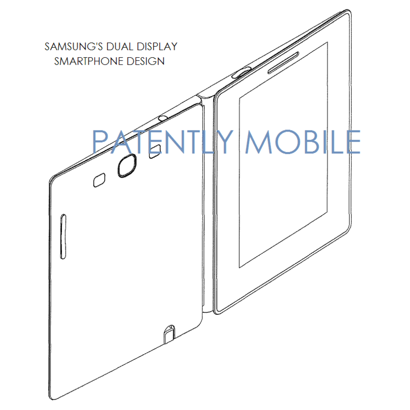 6AF -samsung dual display smartphone design patent figure