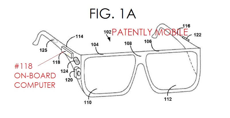 7AF - GOOGLE GLASS COMPONENT SYSTEM FIG. 1A - #118 ON-BOARD COMPUTER