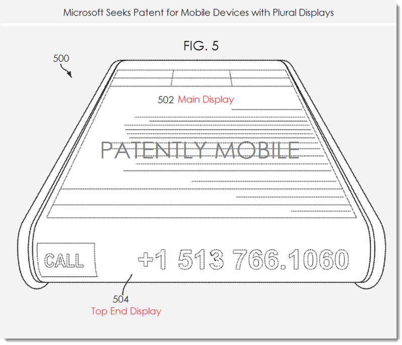 2. Msft patent fig. 5 - for Mobile Devices with Plural Displays