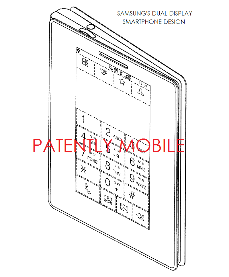 2AF - samsung dual display smartphone design patent figure