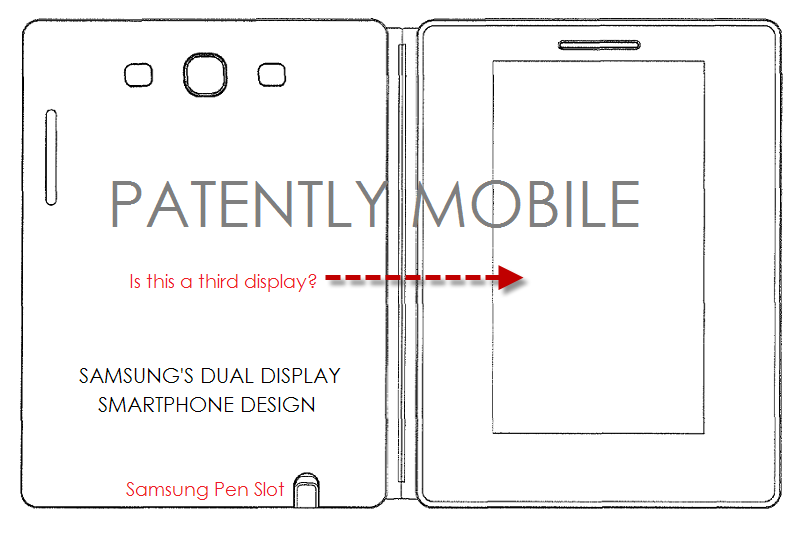 4AF - - samsung dual display smartphone design patent figure