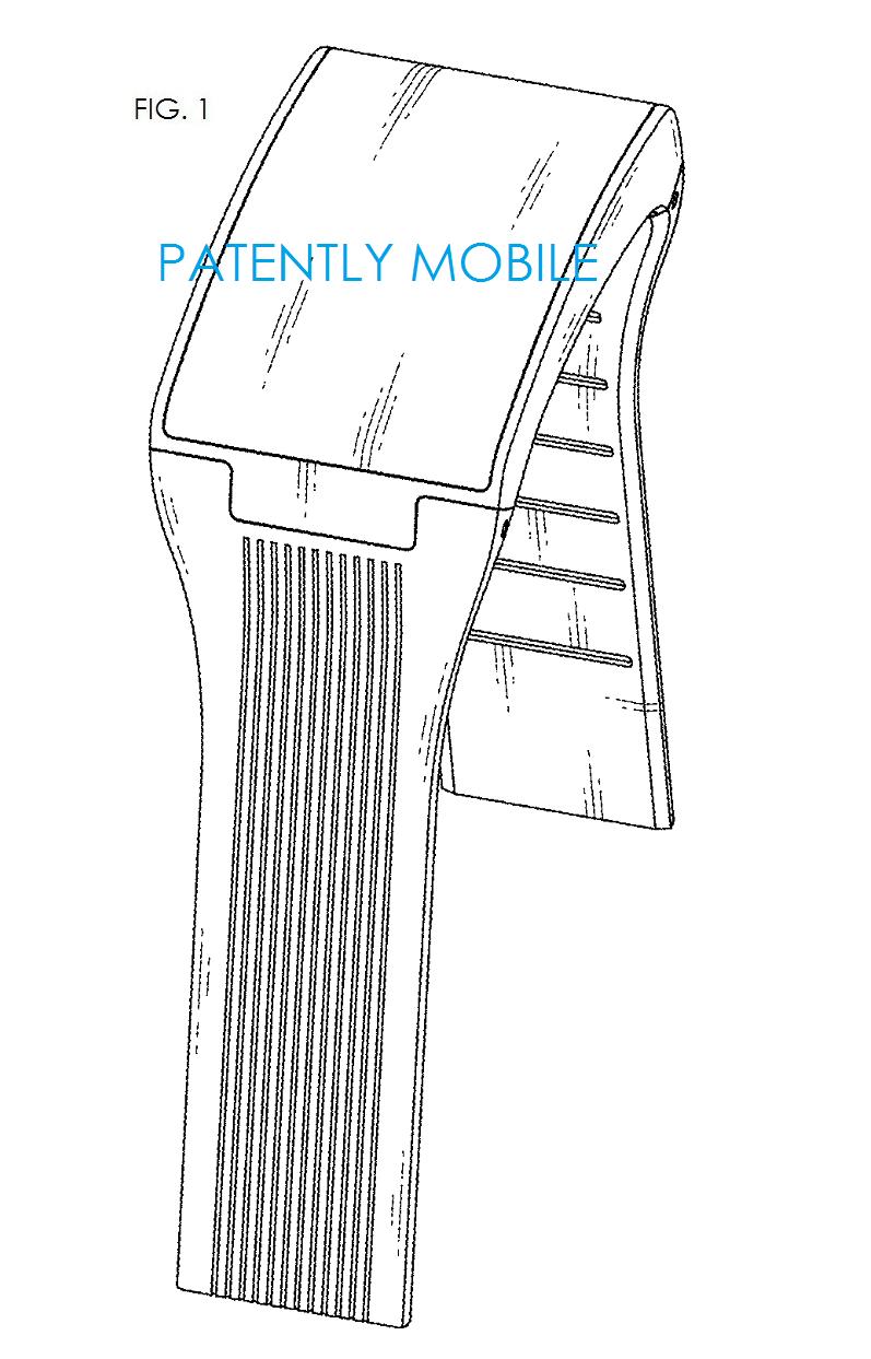2AF - LG PHONE WATCH GRANTED DESIGN PATENT FIG. 1