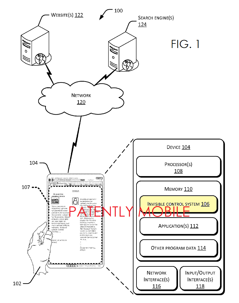 5AF - Microsoft's Invisible Controls Patent Application FIG1