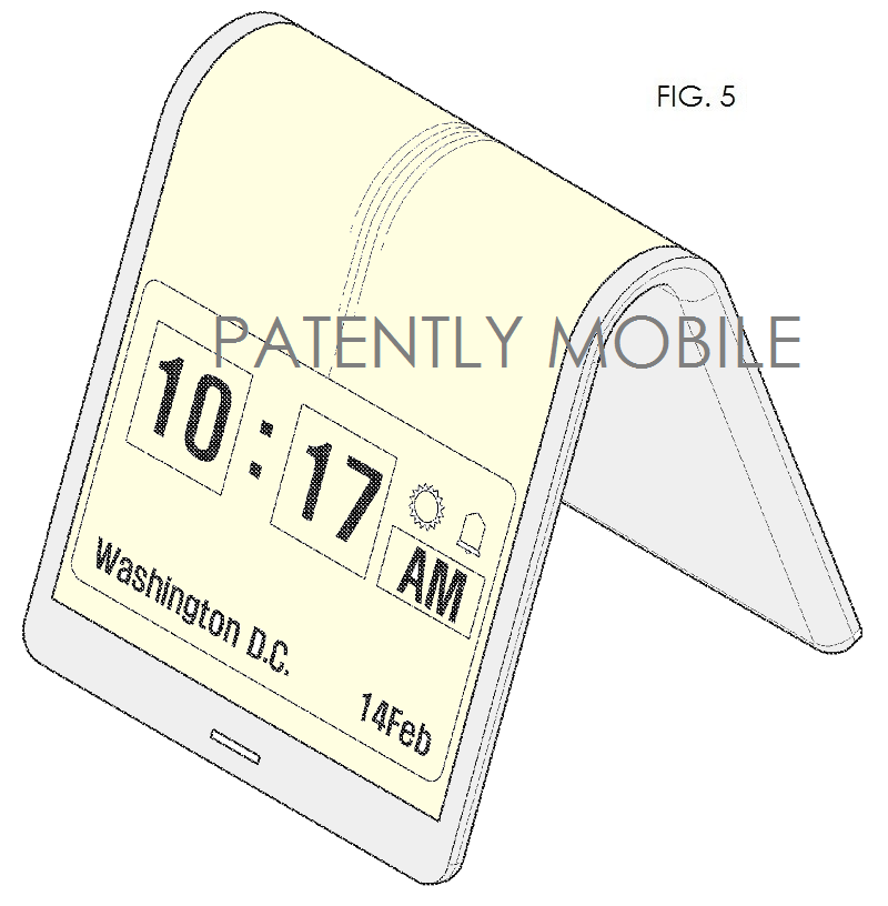 7AF.  SAMSUNG PATENT FIG. 5 FLEX DISPLAY, SMARTPHONE