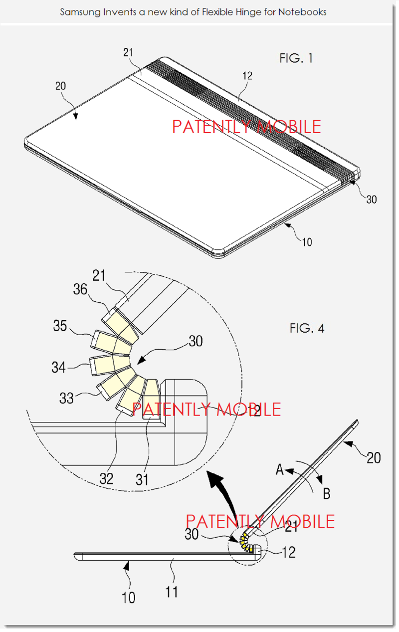 2AF - SAMSUNG PATENT FIGS. 1 & 4 FLEX HINGE NOTEBOOK
